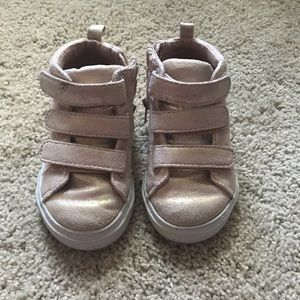 BABY GAP pink high top sneakers